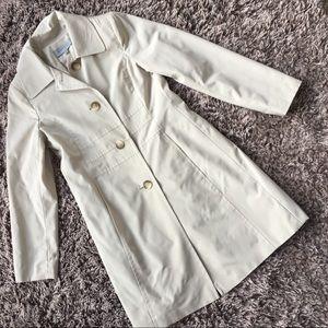 NWOT Anne Klein coat trench beige ivory medium M